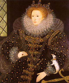 Queen Elizabeth I. (Painted by Nicholas Hillard, 1585.  � Public Domain)
